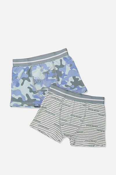 Boys 2Pk Trunk, LCN LU STAR WARS CAMO