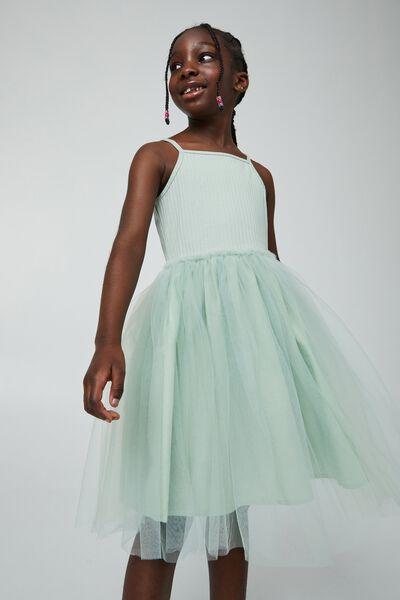 Ines Dress Up Dress, STONE GREEN