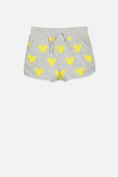 Neve Knit Short, MICKEY HEADS/LIGHT GREY MARLE