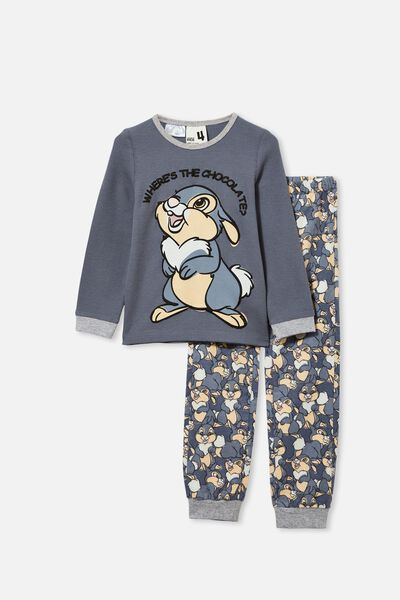 Noah Long Sleeve Pyjama Set Licensed, LCN DIS THUMPER/STEEL