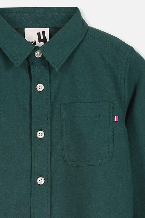 Prep Long Sleeve Shirt, DEEP TEAL