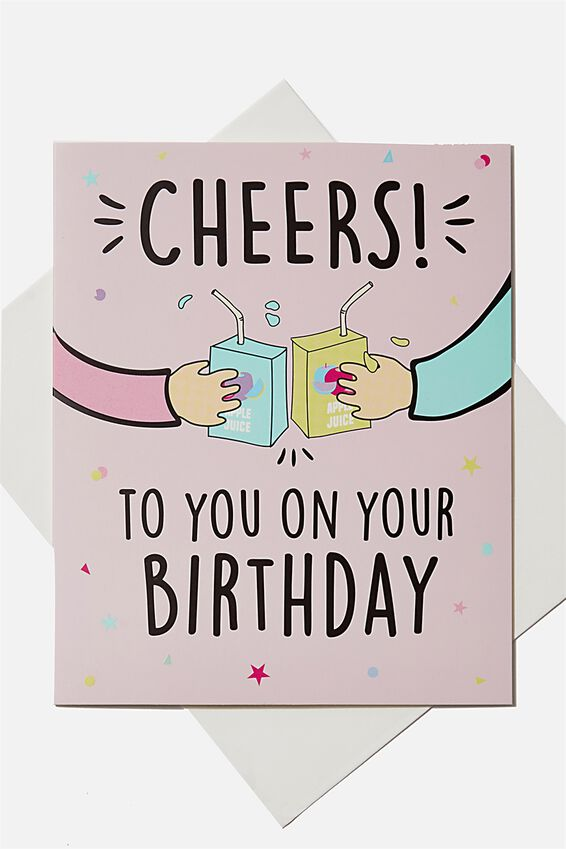 Birthday Gift Card, CHEERS ON YOUR BIRTHDAY