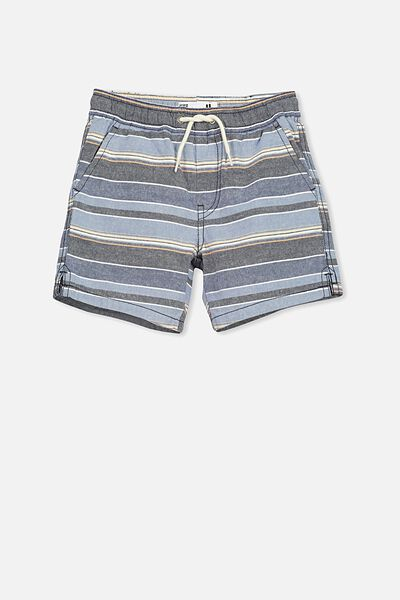 Los Cabos Short, MULTI STRIPE BLUE