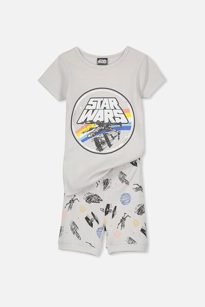 Peter Boys Short Sleeve Pajama Set, STAR WARS SPACESHIPS