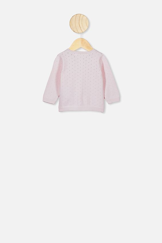 The Betty Knit Cardigan, CRYSTAL PINK
