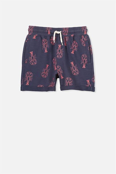 Henry Slouch Short, WASHED NAVY/LOBSTER