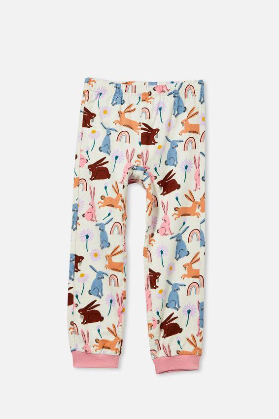 Edith Long Sleeve Pyjama set - Personalised, BE HOPPY/MARSHMALLOW