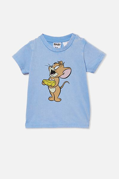 Jamie Short Sleeve Tee-License, LCN WB DUSK BLUE SNOW WASH/TOM & JERRY MOUSE