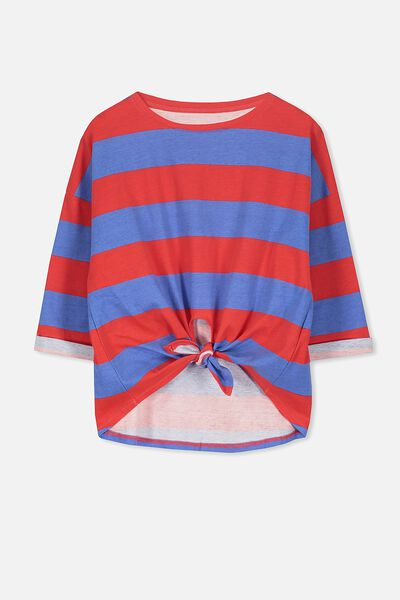 Chloe Long Sleeve Top, BITTER SWEET/MARINA STRIPE