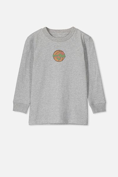 Co-Lab Long Sleeve Tee, LCN WB SPACE JAM/GREY MARLE