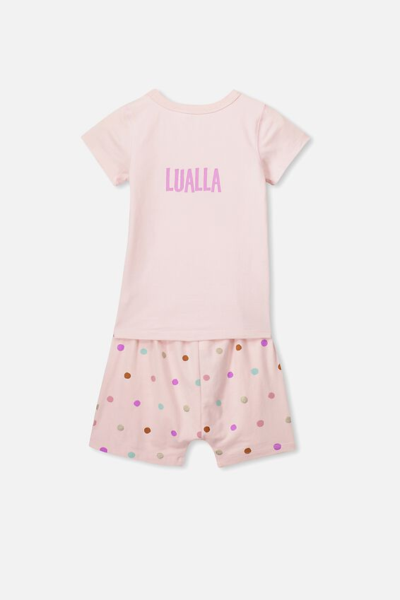 Personalised Harpa Short Sleeve Pj Set, XMAS UNICORN/PERSONALISED