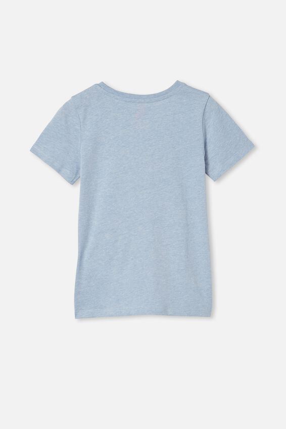 Penelope Short Sleeve Tee, DUSK BLUE MARLE/FOR THE PLANET