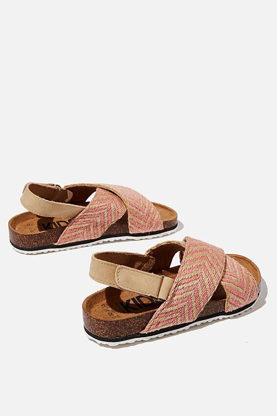 Thea Crossover Sandal - Woven Chevron, MARSHMALLOW PINK CHEVRON