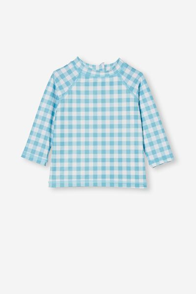 Freddie Rash Vest, BLUE ICE/VANILLA DYLAN GINGHAM