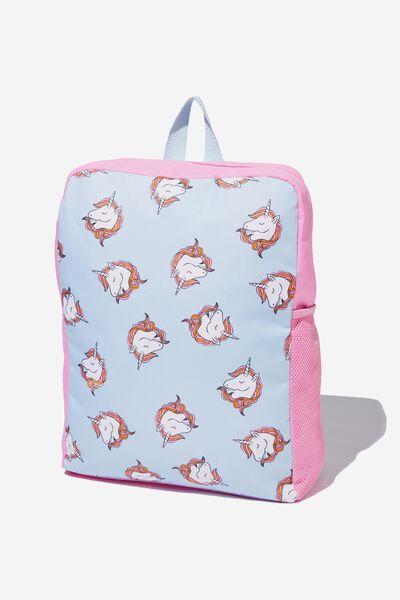 Back To School Backpack, HEATHER BLUE/UNICORN