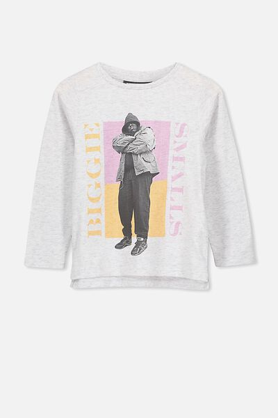 Lux Ls Tee, LCN MT SUMMER GREY MARLE/90'S BIGGIE/SET IN