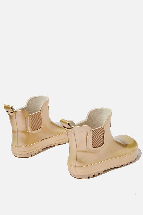 Gusset Gumboot, MATTE GOLD