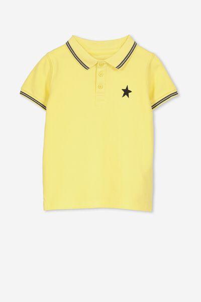 Kenny 3  Polo, RETRO YELLOW/STAR
