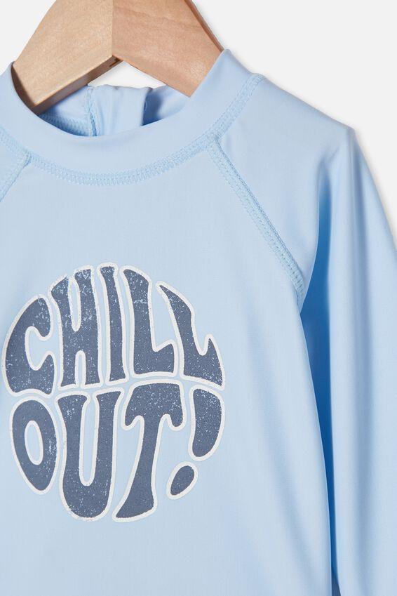 Freddie Rash Vest, FROSTY BLUE/CHILL OUT