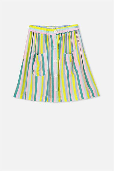 Joanie Skirt, RAINBOW STRIPE