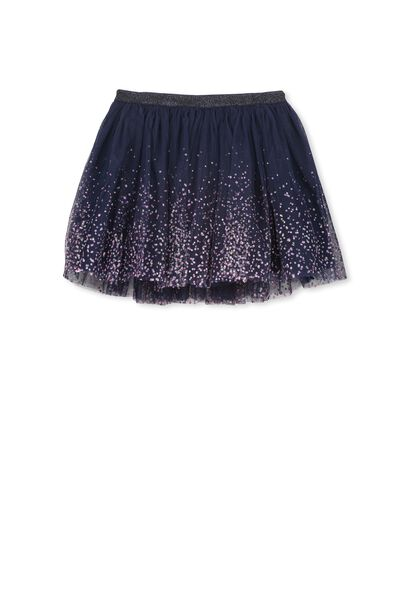Trixiebelle Tulle Skirt, PEACOAT/GRADIENT DOT