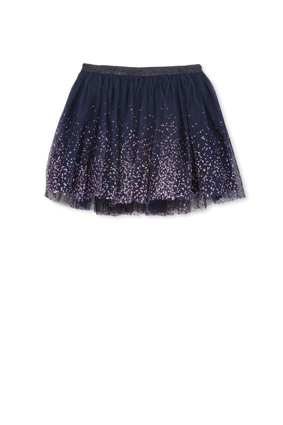 Trixiebelle Tulle Skirt, PEACOAT/GRADIENT DOT
