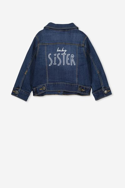 Jules Denim Jacket Personalised, DENIM WASH