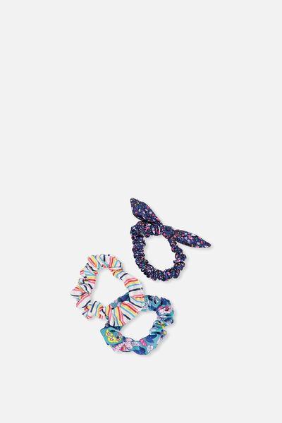 Mini Scrunchie, DITSY FLORALS/STRIPE