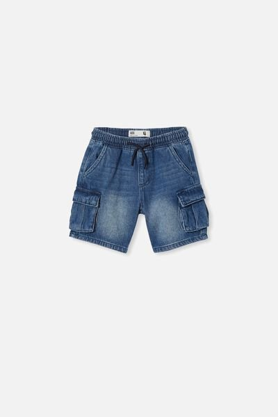 Charlie Cargo Short, INFINITY MID BLUE WASH
