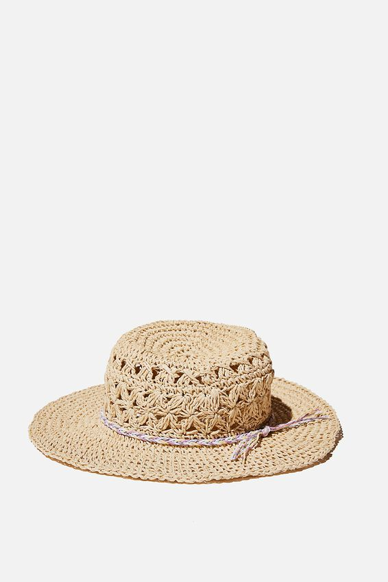 Floppy Hat, CROCHET WITH MULTI TIE