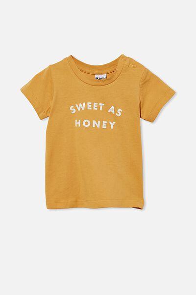 Jamie Short Sleeve Tee, VINTAGE HONEY/SWEET AS HONEY
