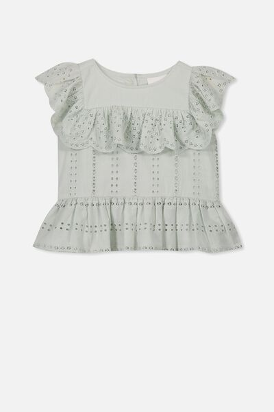 Kiko Frill Top, MINTY BLUE