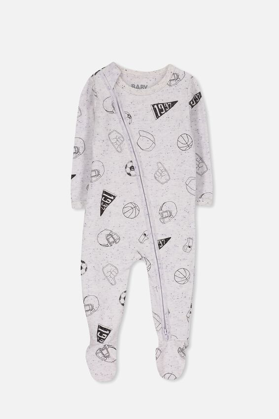 Sleep Mini Zip All In One Jumpsuit, SUMMER MARLE/SPORTS