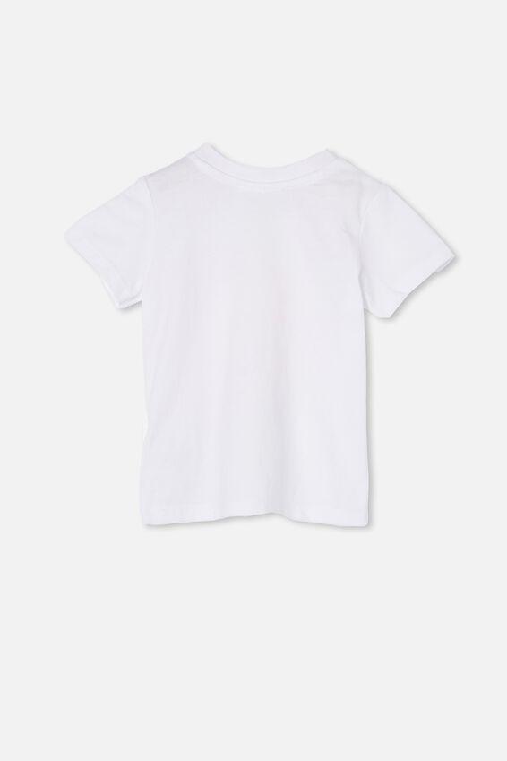 Jamie Short Sleeve Tee, WHITE/DAISY 8