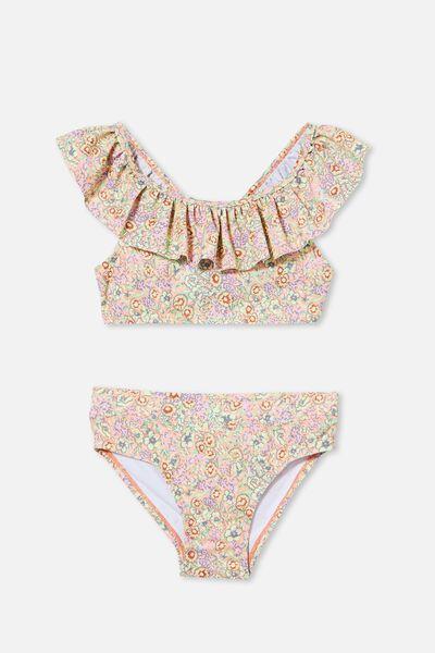 Frankie Frill Bikini, MUSK MELON/VINTAGE FLORAL