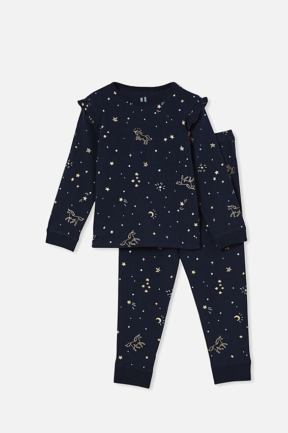 Florence Long Sleeve Pyjama Set, MAGIC NIGHT/NAVY BLAZER