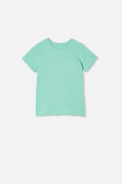 Louis Short Sleeve Texture Tee, MINT BREEZE/TEXTURED