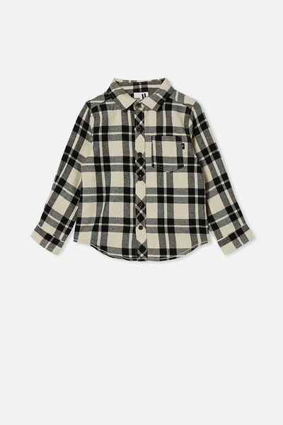 Rugged Long Sleeve Shirt, RAINY DAYS/PHANTOM PLAID CHECK