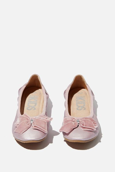Primo Ballet Flat, LILAC SHIMMER BOW
