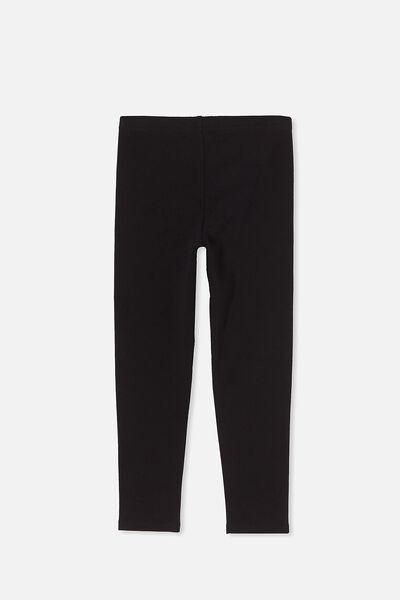 Fleece Legging, BLACK