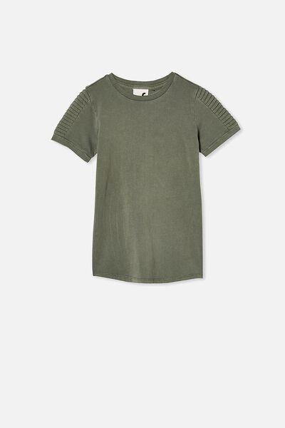 The Cruz Short Sleeve Long Line Tee, SWAG GREEN