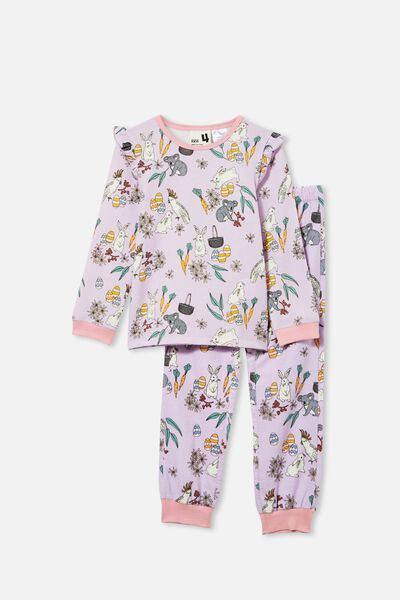 Edith Long Sleeve Pyjama Set, AUSTRALIANA EASTER/VINTAGE LILAC