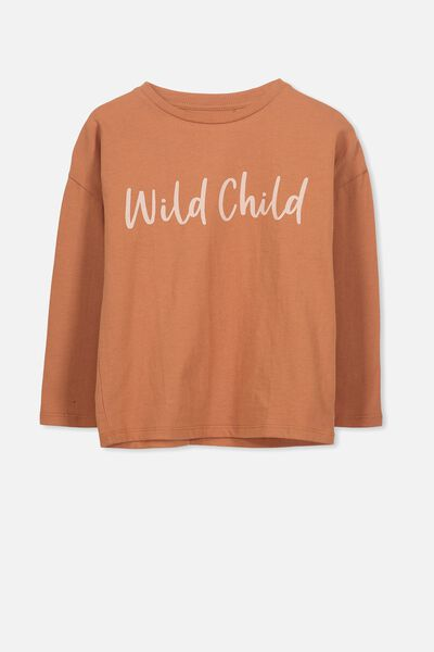 Penelope Long Sleeve Tee, SUNBURN/WILD CHILD/DROP