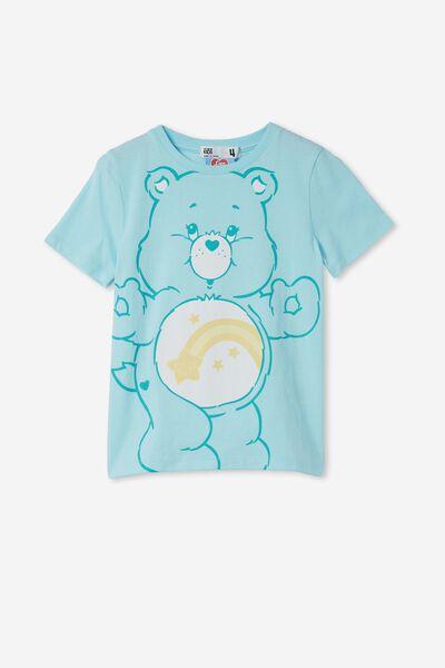 License Short Sleeve Tee, LCN CLC CARE BEARS/DREAM BLUE