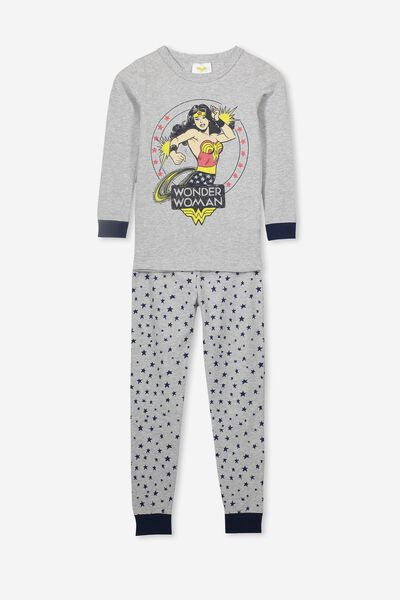 Lila Long Sleeve Pyjama Set, LCN WB WONDER WOMAN