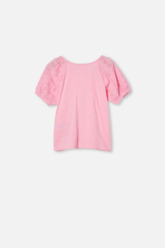 Isabella Puff Sleeve Top, CALI PINK
