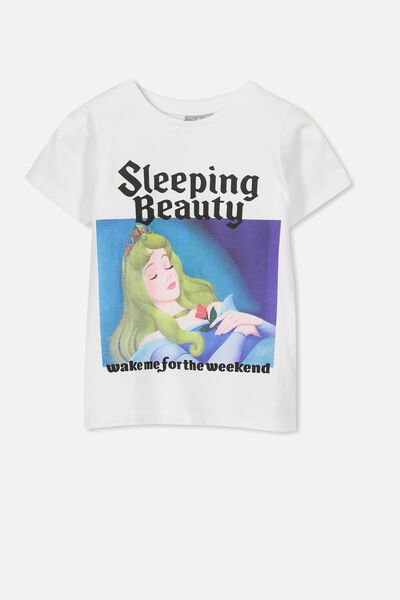 Lux Short Sleeve Tee, LCN DIS WHITE/SLEEPING BEAUTY/MAX