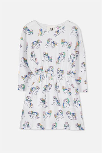 Mara Long Sleeve Dress, WHITE/MY LITTLE PONY