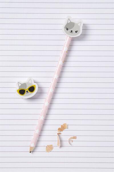 Sunny Buddy Pencil With Eraser, AVA