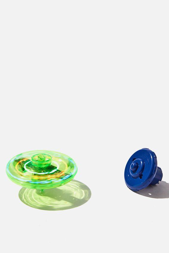 Light Up Spinning Top, GREEN/BLUE